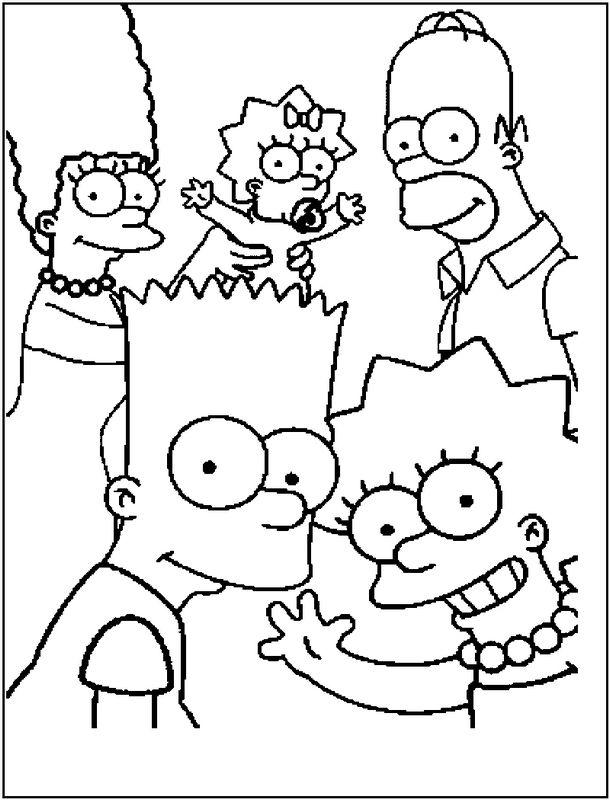 Ausmalbilder Die Simpsons Bild Die Simpsons Familie Ausmalbilder