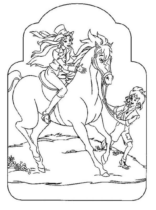 Ausmalbilder Sissi Bild Sissi Auf Seinem Pferd Mit Einem