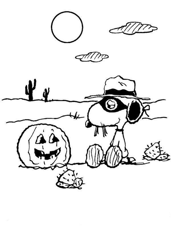 Ausmalbilder Snoopy, bild Halloween und Snoopy