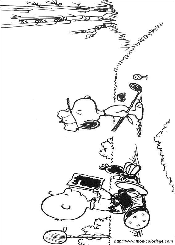 Woodstock y Snoopy colouring pages (page 2)