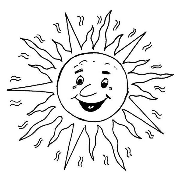 Ausmalbilder Sommer Bild Die Sonne Zum Ausmalen