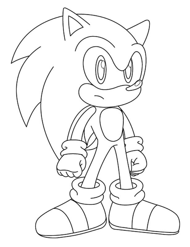 Ausmalbilder Sonic Bild Beliebtesten Videospielhelden