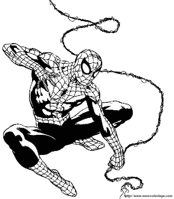 ausmalbilder spiderman bild 008