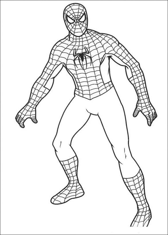 Ausmalbilder Spiderman Bild Der Held Von Marvel