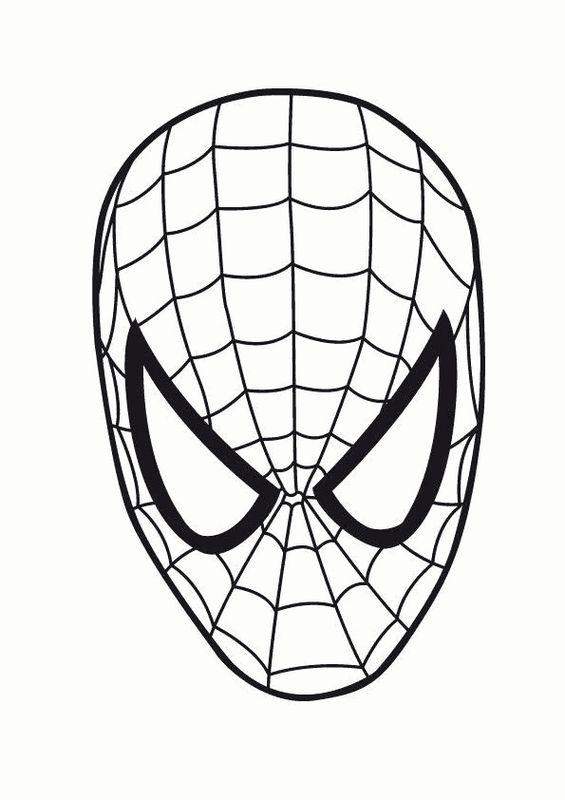 Ausmalbilder Spiderman Bild Halloween Spiderman Maske
