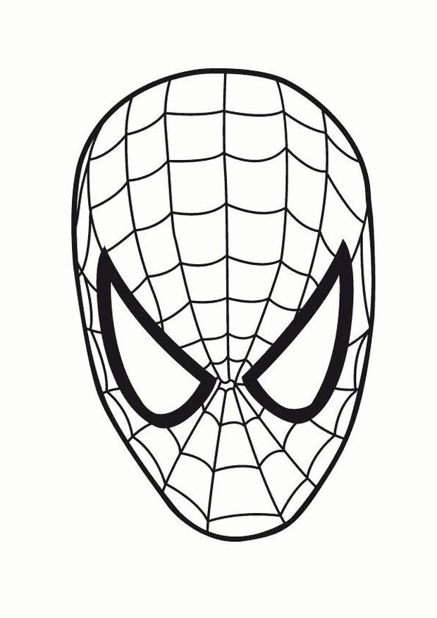 Ausmalbilder Spiderman Bild Spiderman Maske