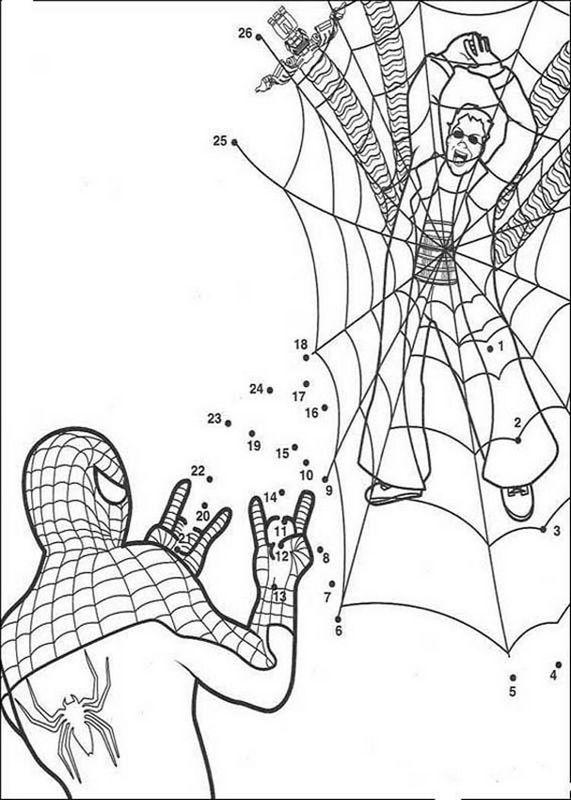 ausmalbilder spiderman bild zahlenbilder spiderman