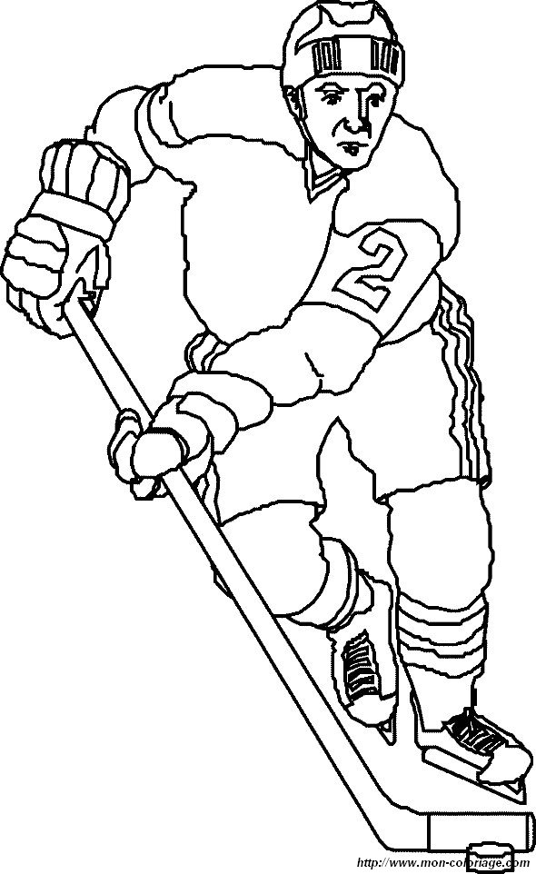 Ausmalbilder Sport Bild Eishockey