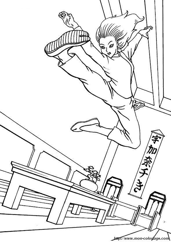 Ausmalbilder Sport Bild Boxing Judo Karate 01