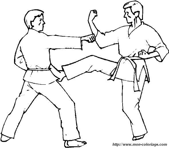 karate coloring pages free - ausmalbilder sport bild boxing judo karate 02
