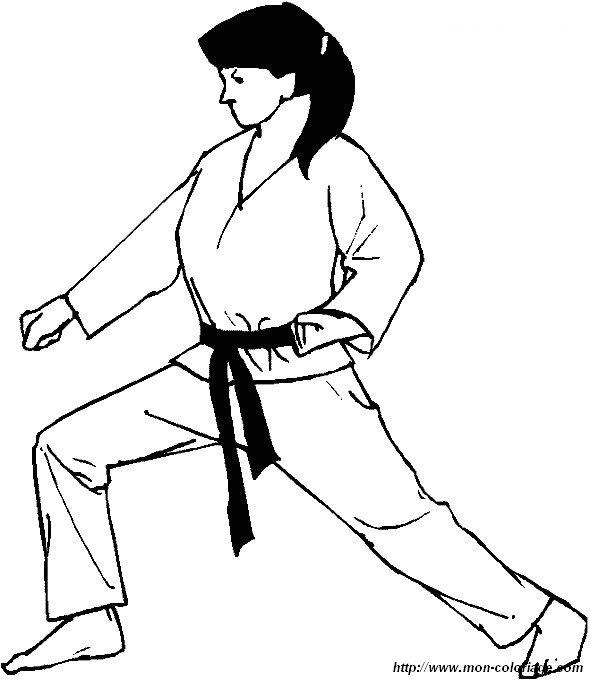 Ausmalbilder Sport Bild Boxing Judo Karate 03