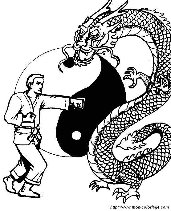 Ausmalbilder Sport Bild Boxing Judo Karate 06