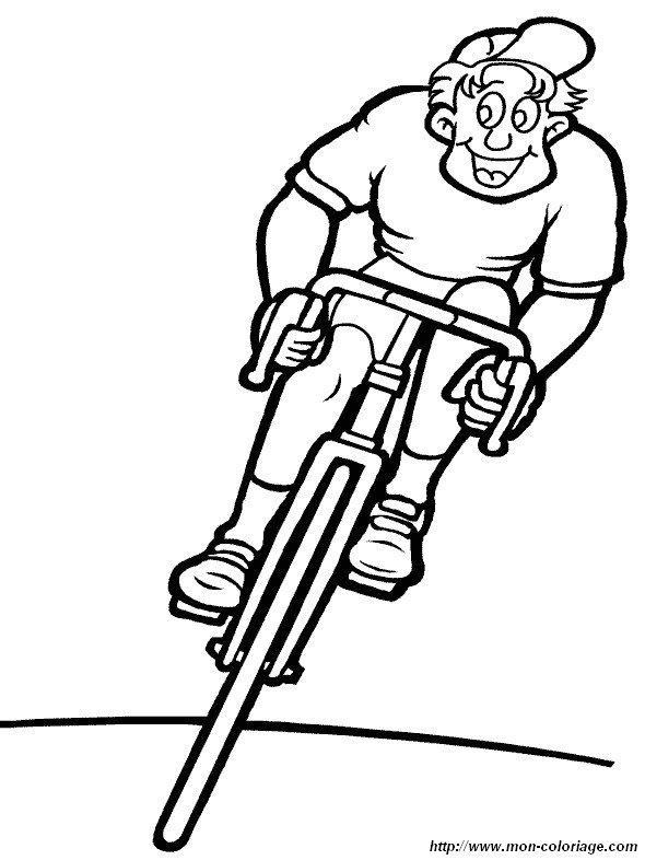 Ausmalbilder Sport Bild Fahrrad 1