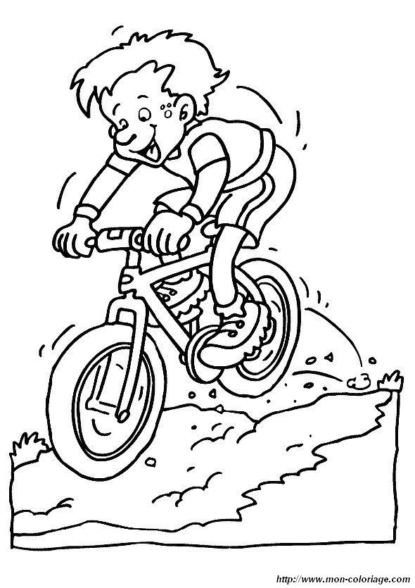 Ausmalbilder Sport Bild Fahrrad
