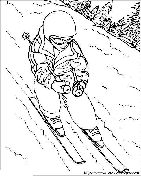 ausmalbilder sport bild ski