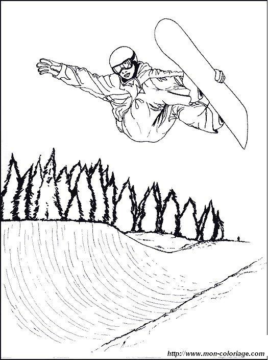 ausmalbilder sport bild snowboard 1