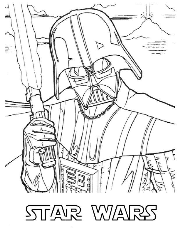 Ausmalbilder Star Wars Bild Der Schreckliche Darth Vader