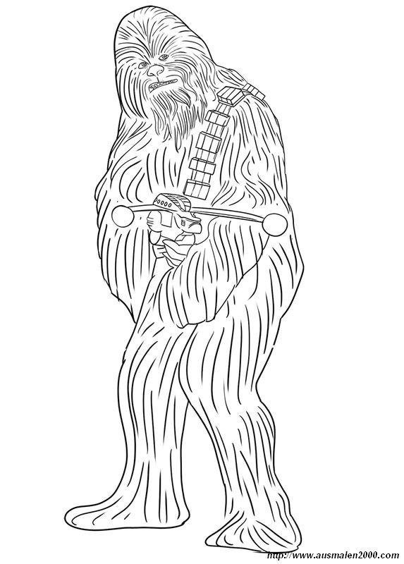 Ausmalbilder Star Wars Bild Freund Chewbacca Auf Dem Planeten Kashyyyk