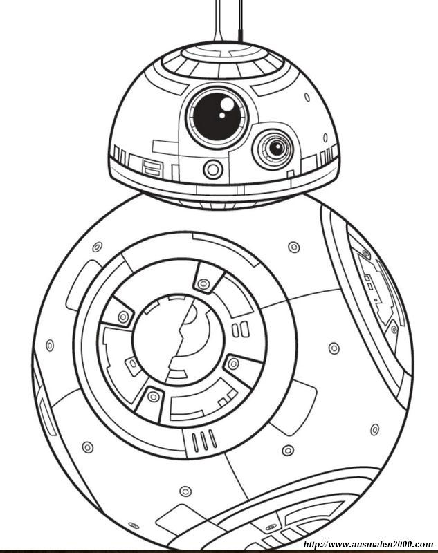 Ausmalbilder Star Wars Bild Sphero Star Wars Roboter Bb 8