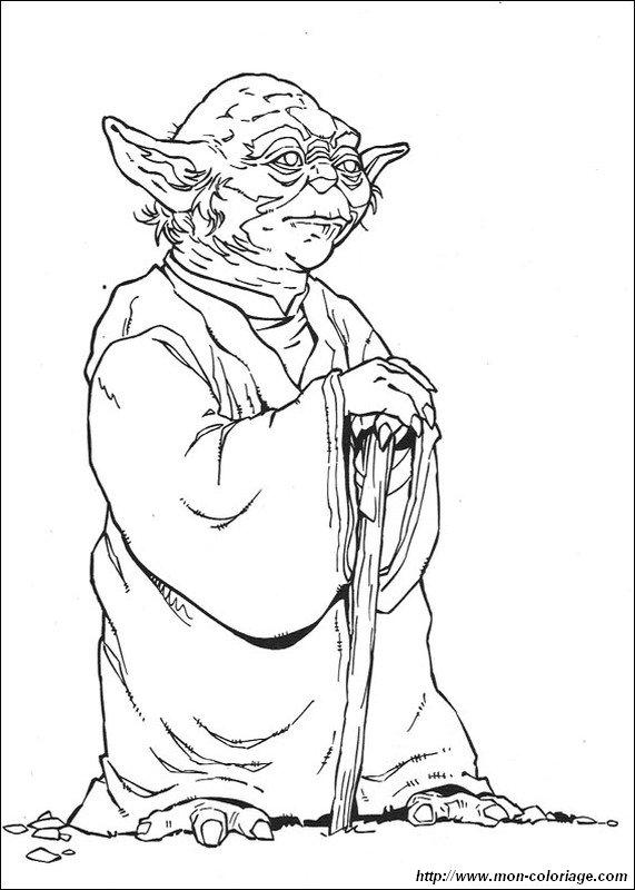 Line Art Yoda : Ausmalbilder star wars bild meister yoda