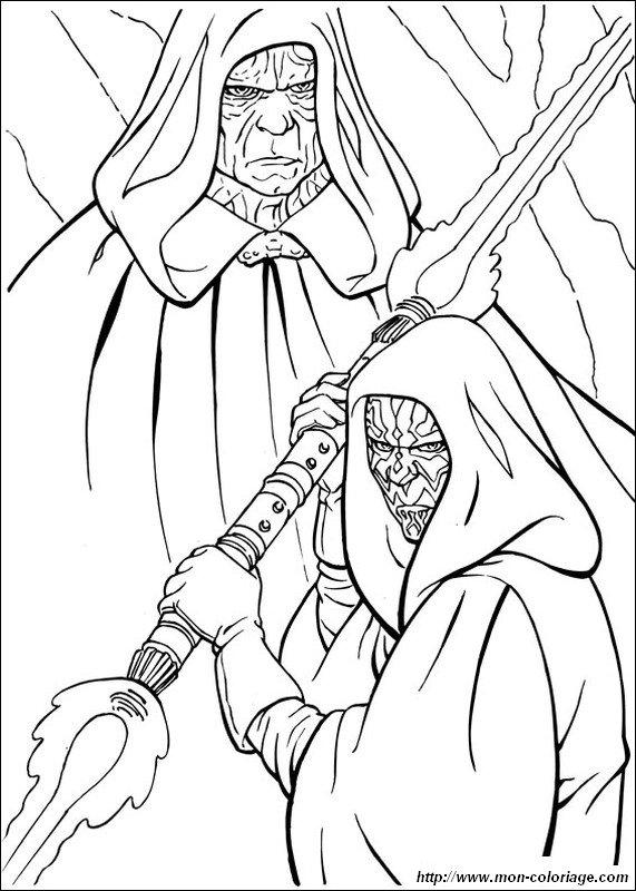 Ausmalbilder Star Wars Bild Sith Darth Maul
