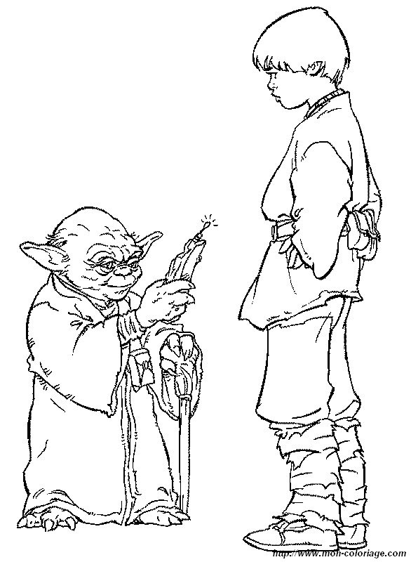 Ausmalbilder Star Wars Bild Yoda Mit Anakin Skywalker