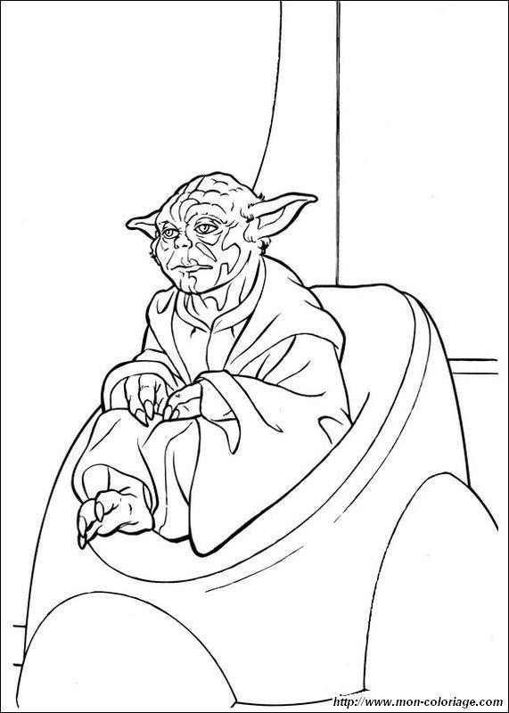Ausmalbilder Star Wars Bild Yoda Starry Coloring Page