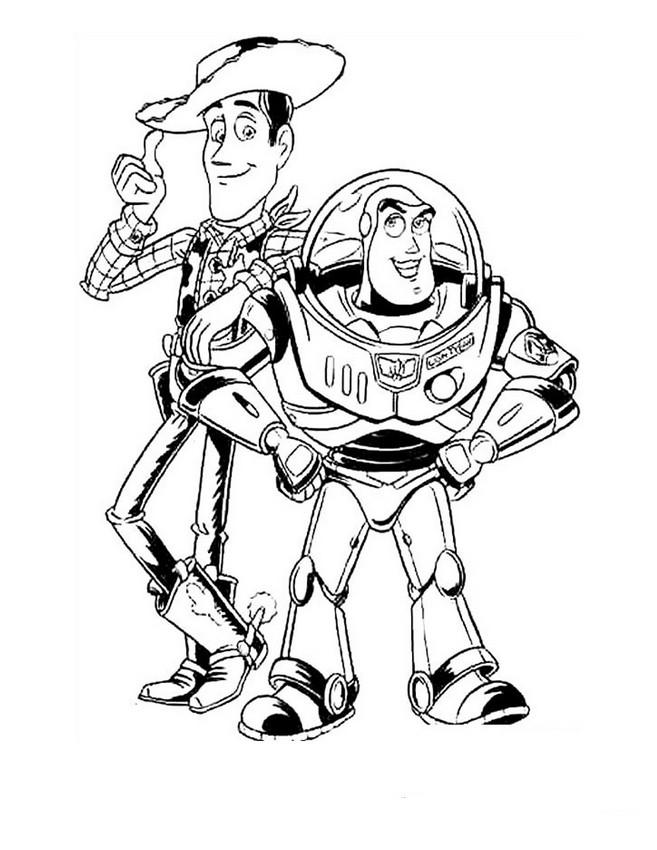 Ausmalbilder Toy Story, bild Cowboy Sheriff Woody und ...