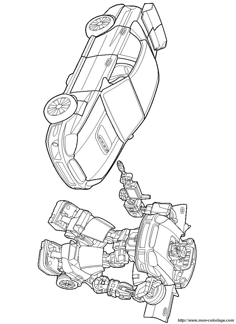 ausmalbilder transformers bild 006