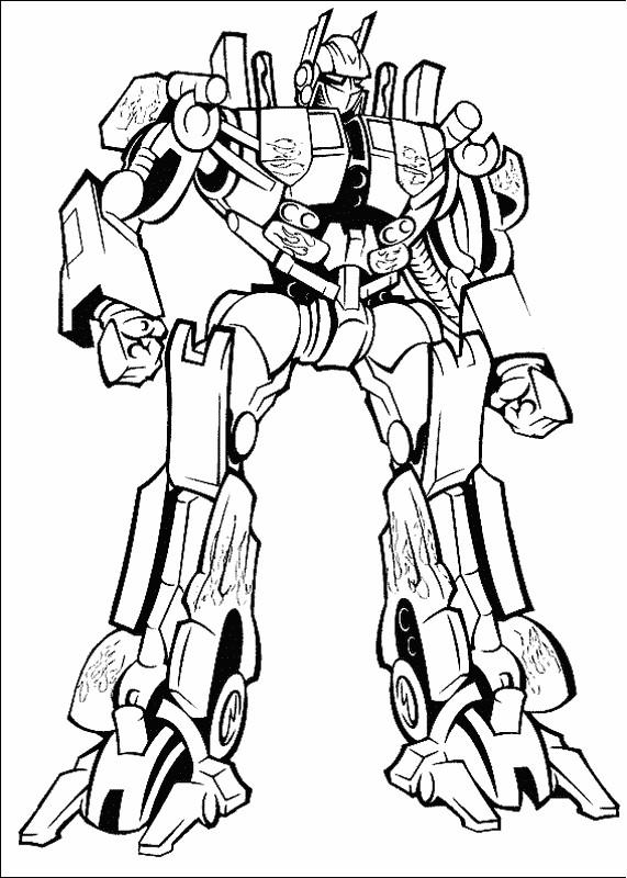 Ausmalbilder Transformers Bild Ein Kampf Gegen Roboter