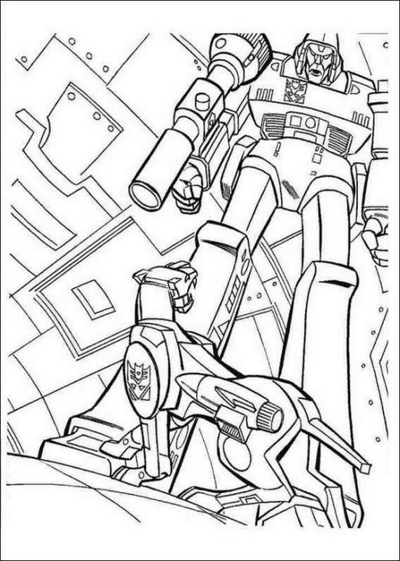 ausmalbilder transformers bild ein roboter hund