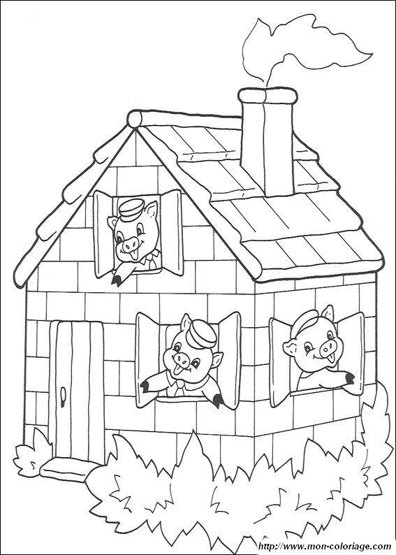 ausmalbilder die drei kleinen schweinchen bild gratis die