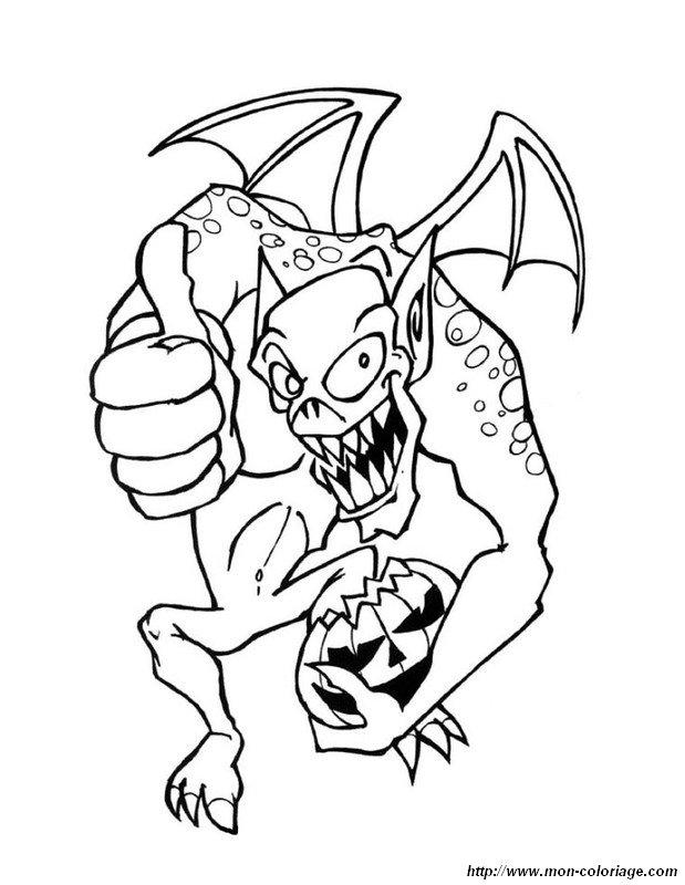 Ausmalbilder Monster Und Menschenfresser Bild Der Halloween Drache