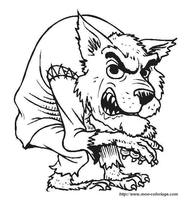 Halloween Creature Coloring Pages
