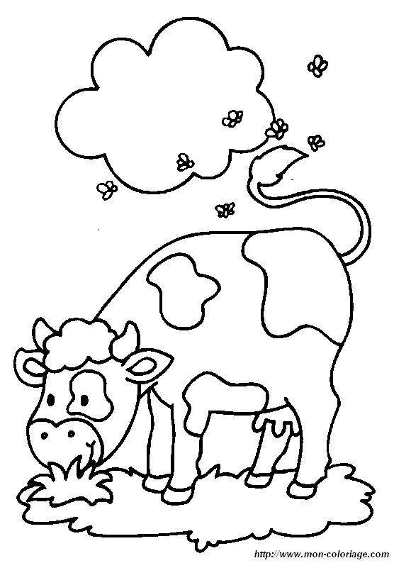 Ausmalbilder Kuh, bild kuh 03