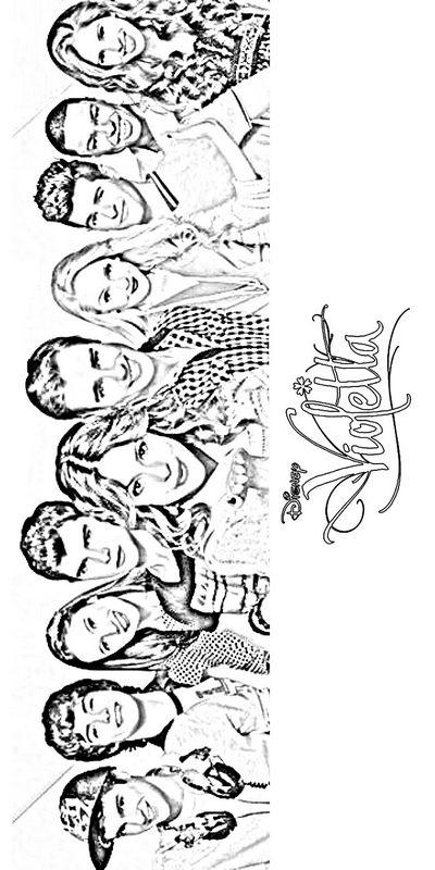 Ausmalbilder Violetta Bild Alle Charaktere In Der Serie