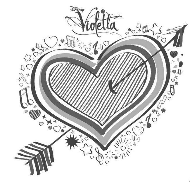 Ausmalbilder Violetta Bild Herz Mit Pfeil