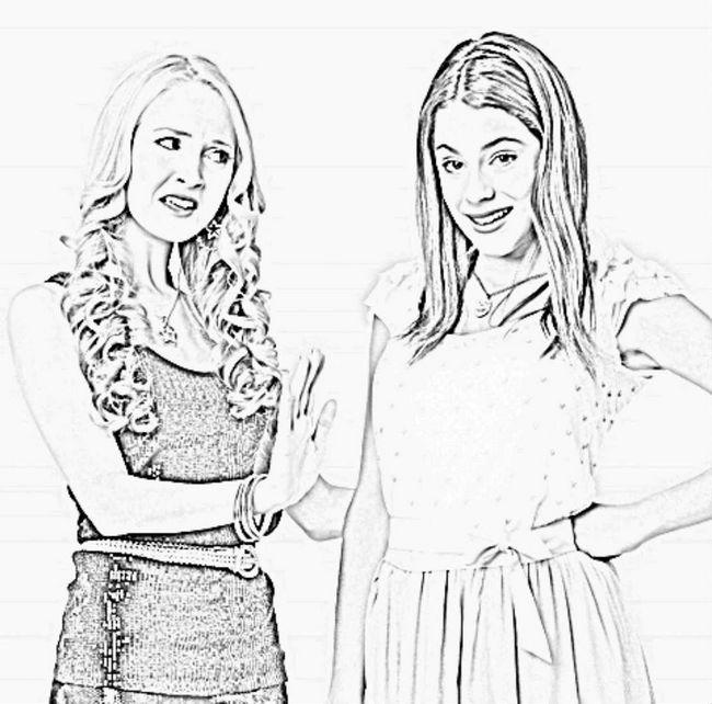 Ausmalbilder Violetta Bild Ludmila Und Violetta