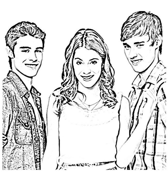 Ausmalbilder Violetta Bild Mit Zwei Jungen