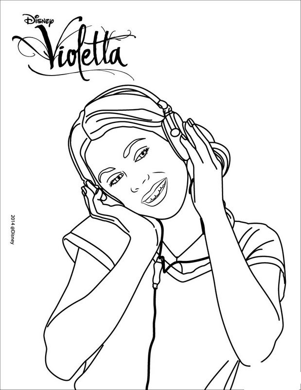 Violetta Et Carnet Coloring Pages
