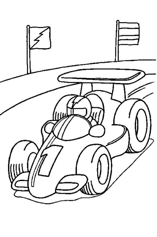 ausmalbilder auto bild autorennen
