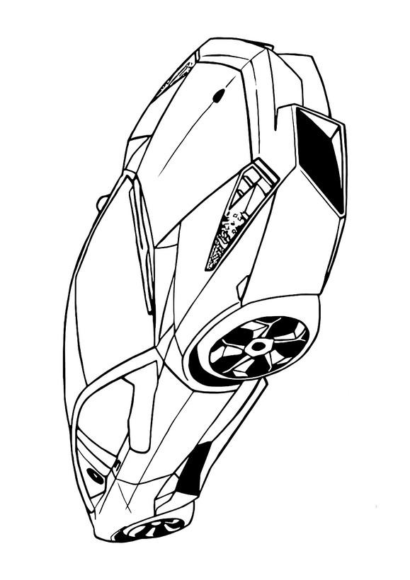 ausmalbilder auto bild der lamborghini reventon
