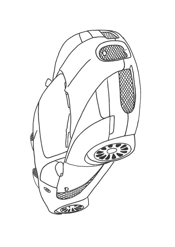 Ausmalbilder Auto Bild Ein Bugatti