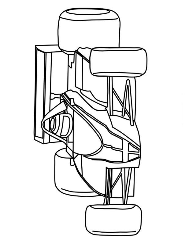 ausmalbilder auto bild formel 1 auto