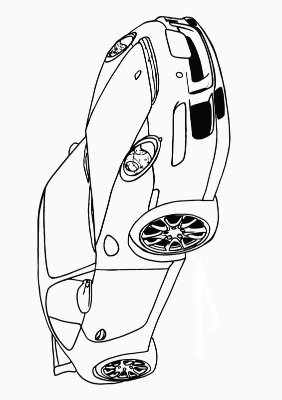 Ausmalbilder Auto Bild Porsche 911