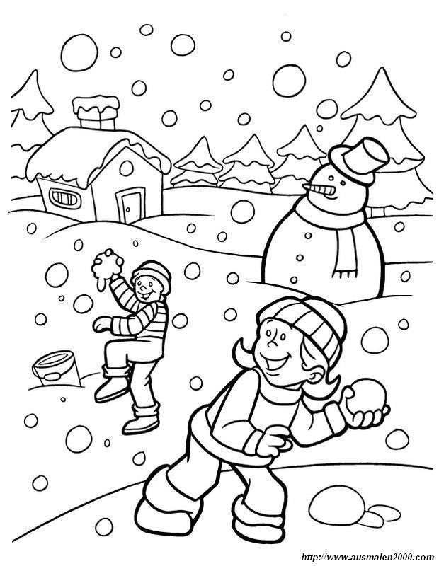 Ausmalbilder Winter Und Schnee Bild Der Winter Ist Spass