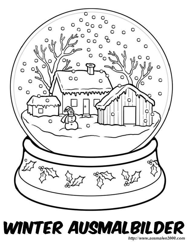 Ausmalbilder Winter Und Schnee Bild Winterlandschaft1